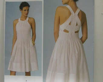 VOGUE Designer Dress Pattern, Rebecca Taylor Dress Pattern, VOGUE 1446 Dress Pattern, Resort Wear, Party Dress Pattern, SZ 6 through 10