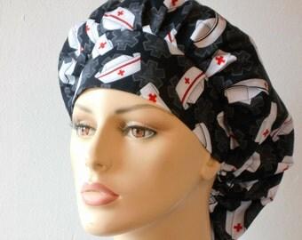 Scrub Hats Medical Bouffant Scrub Hat -Calling All Nurses Scrub Hat with a Matching Headband Nurses Hat