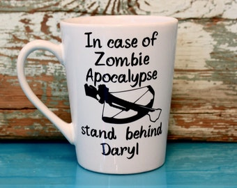 Daryl Coffee Mug, The Walking Dead, Zombie Apocalypse