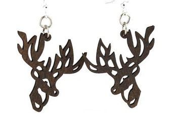 Reindeer Earrings - Cut Wood Earrings