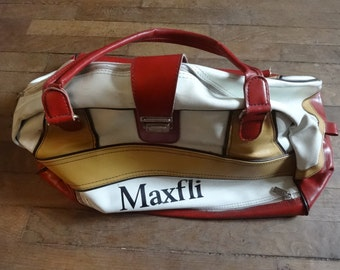 Vintage Man-Made Materials Black Weekender Maxfli Golf Sports Carry Holdall Carrier Luggage Bowling Bag circa 1970-80's / English Shop