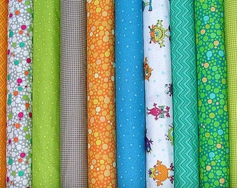 Silly Gilly Fat Quarter Bundle of 10 by Leanne Anderson and Kaytlyn Anderson for Henry Glass