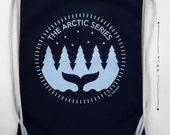 Backpack, Drawstring Sack Pack, Tote Bag, Rucksack, Illustration, Arctic Whale, Silk print, Sport Bag
