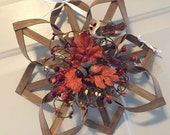 SALE - Save 20% - Woven Fall Wreath Alternative - Smoked Reed 14""