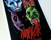 Horror Section - Halloween Masks Print
