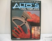Vintage Alto's Oval Templates New In Box 1986