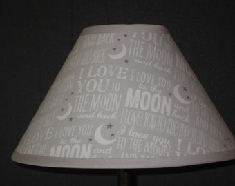 Love You to the Moon & Back Fabric Nursery Lamp Shade