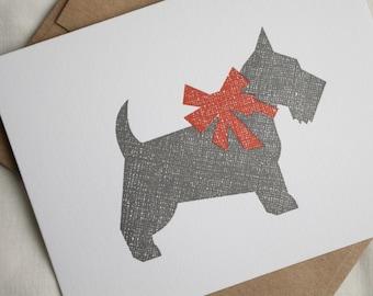 Holiday Scottie Letterpress Card