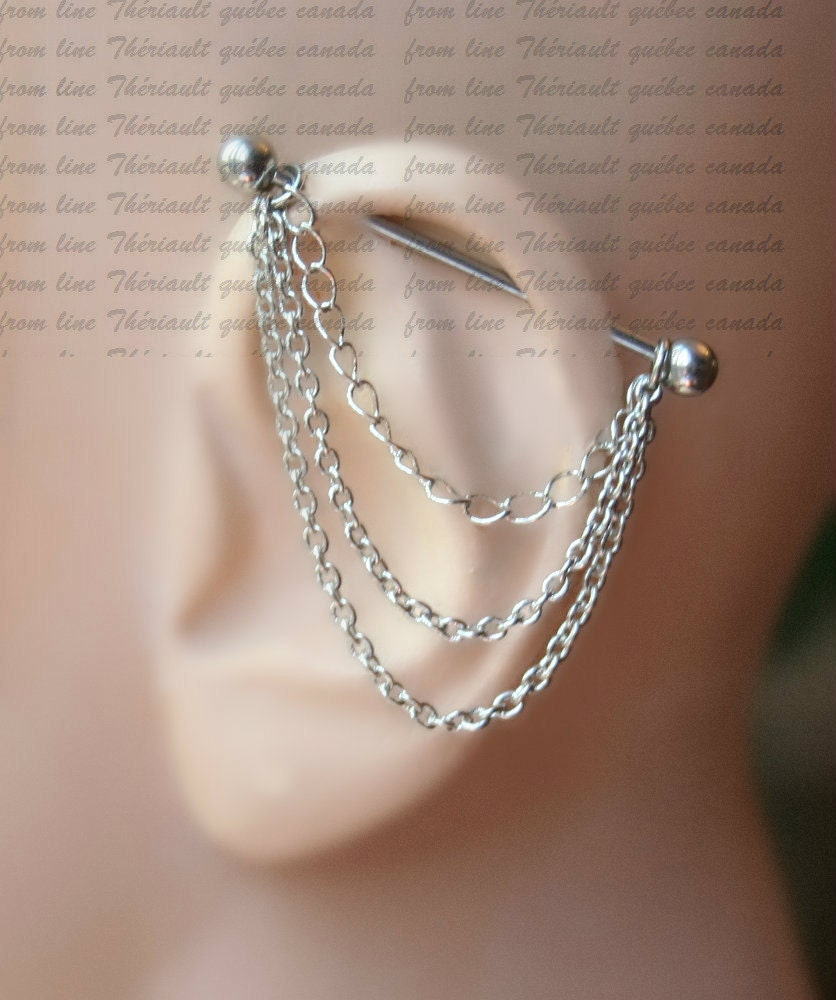 piercing jewelry industrial barbell 14g 16g industrial piercing jewelry 2958