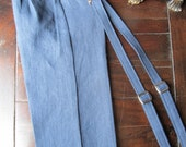 Boys Linen Ring Bearer 2 Piece Set, Ring Bearer Pant, and Suspenders. Wedding Outfit for Ringbearer