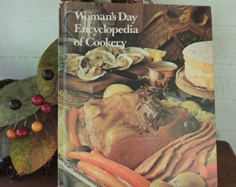 Woman's Day Encyclopedia of Cookery Vol. 1 (A) / Vintage Cookbook / 1973 Cookbook / Vintage Hardcover Cookbook / Regional American Cookbook