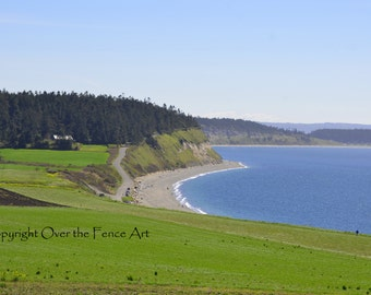 Whidbey Island Cove  Photo Greeting Card Nature Photography