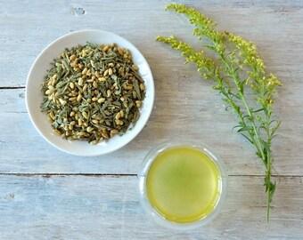 Organic Genmaicha Matcha Green Tea • 8 oz. Kraft Bag • Japanese Tea with Rice and Matcha • Loose Leaf Tea