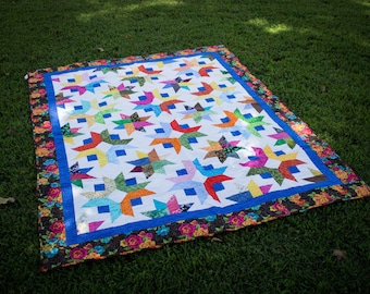 "Stars Abound Quilted Throw, 59"" x74"""