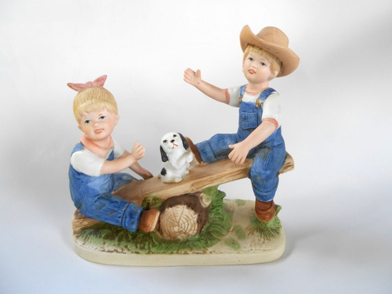 Denim Days Playtime Homco Figurine Porcelain Home Interiors: home interiors denim das
