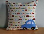 Car Pillowcase,Car Quilt cushion cover,Applique Patchwork Pillow Cover,Kid Decorative Pillow Cover, Boy Pillow Throw,Cotton Pillow Slip