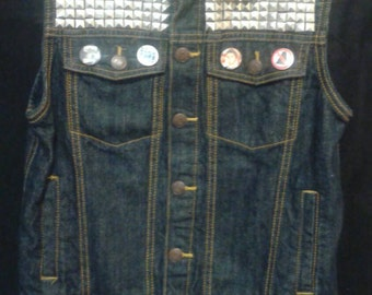Hardcore kid/Punk denim vest