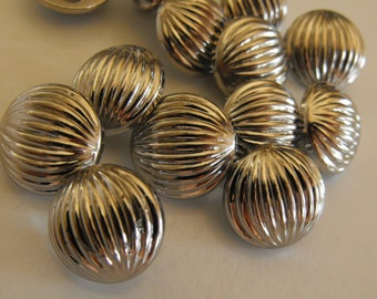 """13 Silver Half Ball Extra Small Round Shank Buttons Size 9/16"""""""