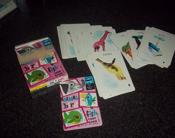 Vintage Fish card game - Edu-Cards - dated 1959- Animal, Bird, Fish, Cards