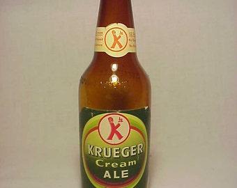 1950 Krueger Cream Ale Newark, N.J., New York, N.Y. , 12 Ounce Paper Labeled Beer Bottle No. 2