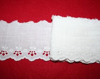 Vintage Embroidered Batiste Edging- 1 yard