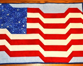 Flag Quilt Wall Hanging or Center Piece