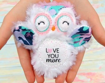 Personalized owl - Plush owl - Embroidered owl - Baby shower gift -Nursery decor - Baby toy - Baby shower gift - Whimsy toy
