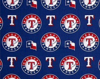 MLB Texas Rangers baseball team cotton fabric from Fabric Traditions - BTY