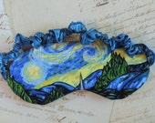 Starry Night Sleep mask // Cotton & Satin Eye Mask, Van Gogh