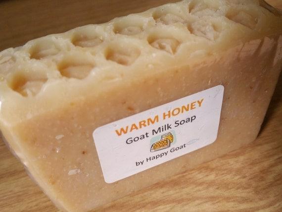 WARM HONEY-Happy Goat-goat milk soap-bath/shower bar
