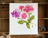 Floral 1. An original watercolor painting