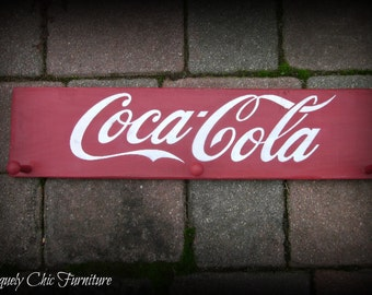 Coca Cola Coke Sign~Coat~Backpacks~Towel Rack