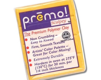 Cadmium Yellow Premo Sculpey Oven-Bake Polymer Clay, 2 oz