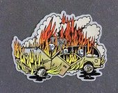 """SUV on Fire 4"""" iron-on patch"""