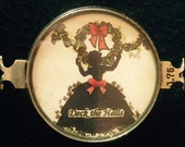 Vintage Handcrafted Silhouette hanging holly Bracelet piece