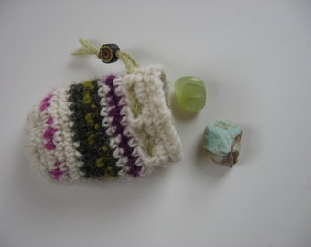 small wool drawstring pouch gift bag
