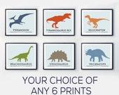 Dinosaur nursery prints, colourful wall art, DINOSAUR print, Toddler room decor, baby nursery decor, dinosaur decor
