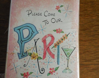 12--Party Invitations with Envelopes NOS
