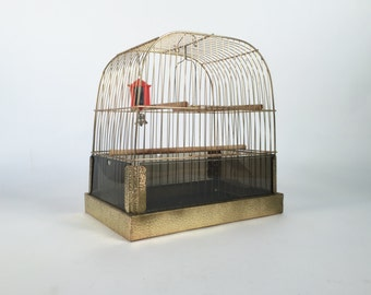 Bird Cage Mid Century Asian Style Canary Cage: Vintage Bird Cage Wire Bird Cage hanging Bird Cage Retro Bird Cage Antique Bird Cage