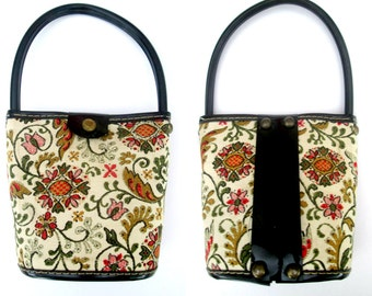 Child's Vintage Handbag Pocketbook Purse with Handle Mid Century 1950s 1960s