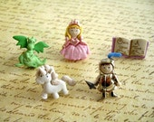 Princess Unicorn Dragon Thumbtack , Gile Room Push Pin, Gril Princess Notice Board Pins, Little Poney Push Pins