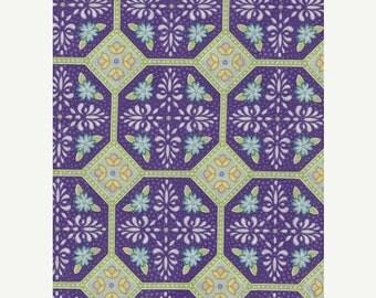 "On Sale Fabric Remnant, Veranda, Robert Kaufman Fabrics, Geometrics, 27"""