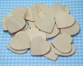 """25 - 125 Natural Wooden Hearts 1 1/2"""" diameter 1/8"""" thick"""