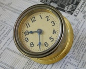 Old Brass USA made Clock. Industrial. Salvage.