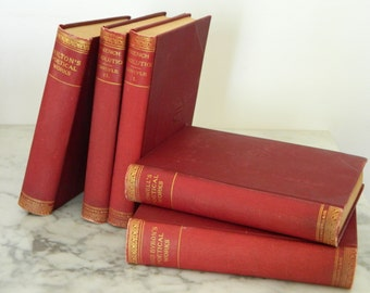 Set of Antique Poetry Books. Instant Library. Victorian. Cottage. Home Decor.