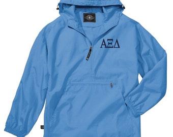 Alpha Xi Delta Unlined Anorak (Columbia Blue)