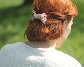 Bridal Hair Comb, Pink Hair Comb, Bridal Headpiece, Wedding Headpiece, Pink Hair Accessories, Bridesmaids Gift