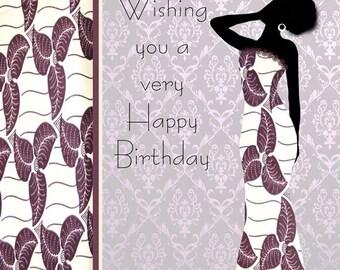 Nia 2 Black female birthday card