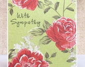 Floral Sympathy Card-  Sympathy for Her- With Sympathy Card- Condolence Card-Sympathy Card for Widow