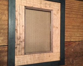 Reclaimed Wood and Steel Picture Frame